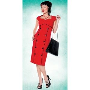 Folter Retro-Style Pencil (Wiggle) Dress